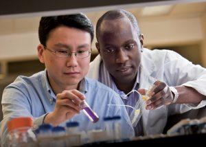 Dan Huh and student